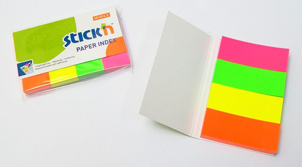 Bloček samolepící 50x20, neon. mix 4x50l /21205/