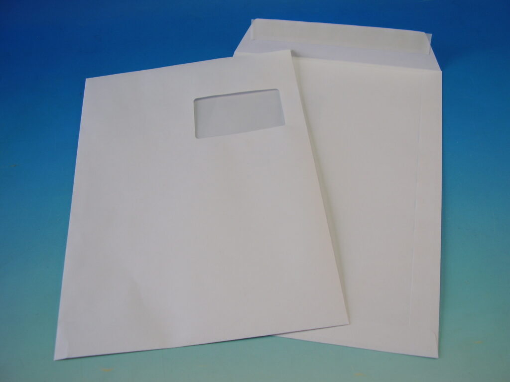 Obálka C4 okénko s krycí páskou bílá 1097385