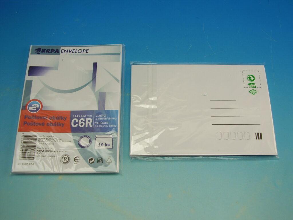 Obálka C6/10 předtisk KRPA obyč. 1081404