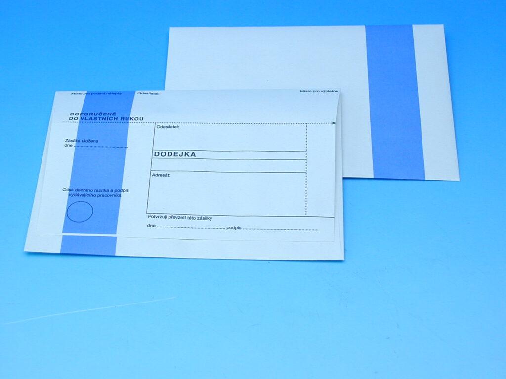 Obálka DODEJKA modrý pruh   287187 /1142174/