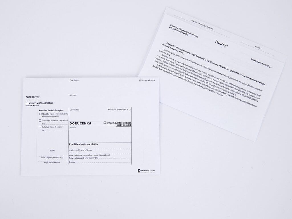 Obálka DORUČENKA bílý pruh B6 / 1144479 /