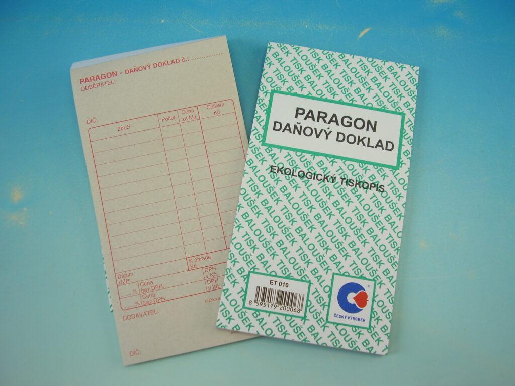 Paragon-daňový doklad, 50l /ET010/