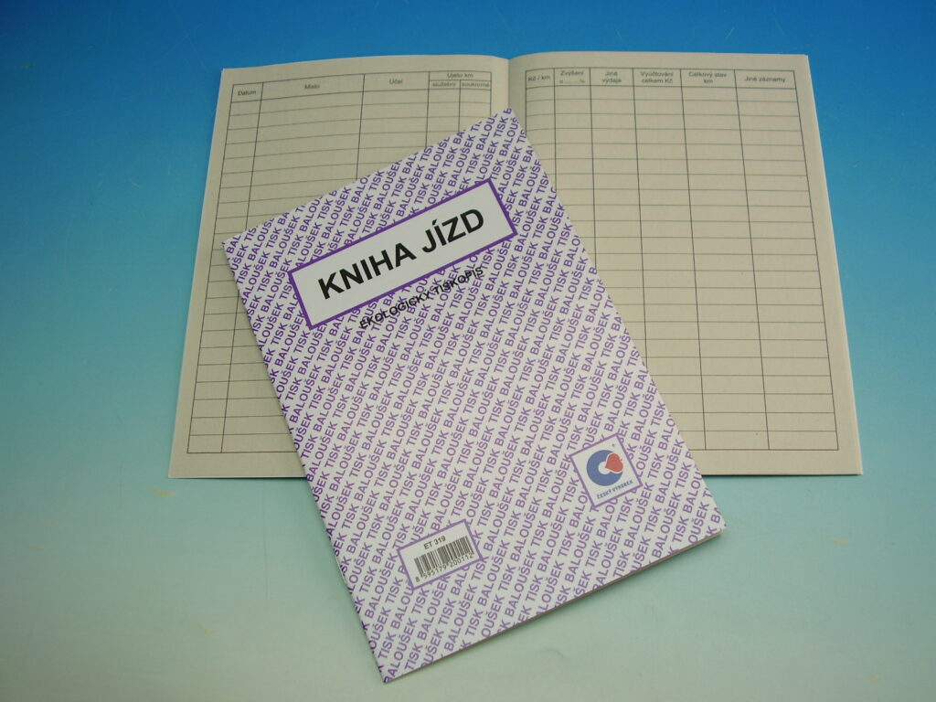 Kniha jízd A5 - firem.+souk.vozidl, 24str. /ET319/