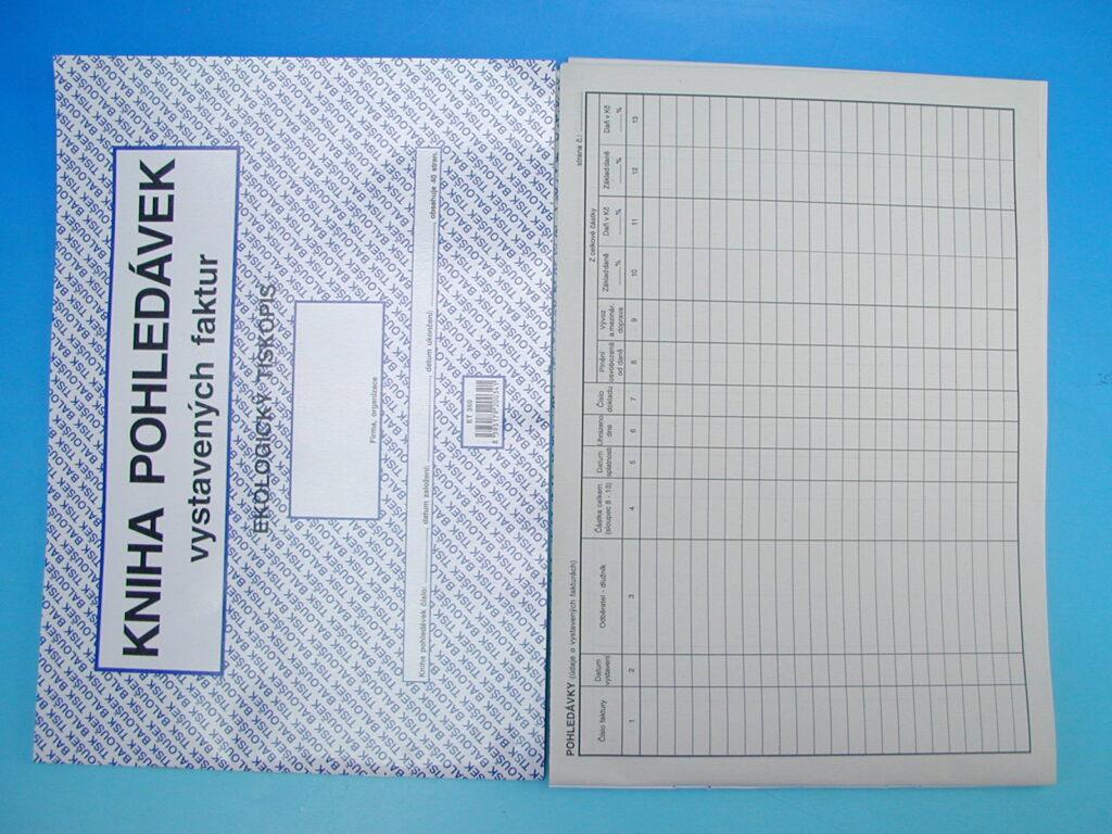 Kniha pohledávek vystav.faktur A4, 40str. /ET350/