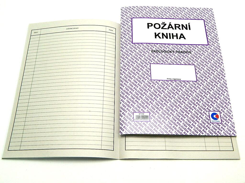 Kniha požární A4, 60str. /ET510/