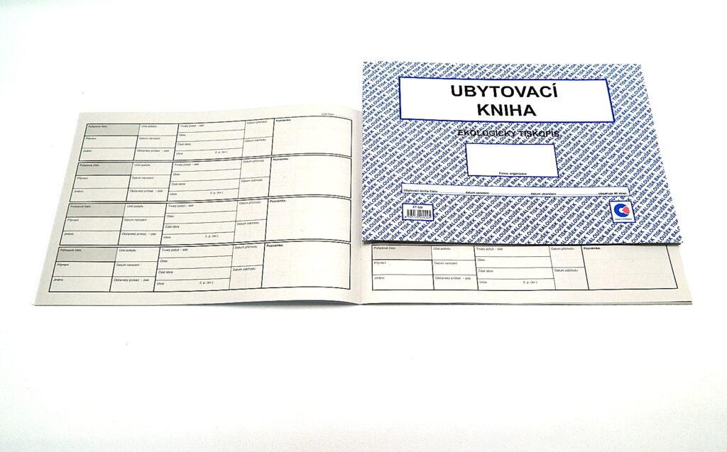 Kniha ubytovací , A4, 40str. /ET520/