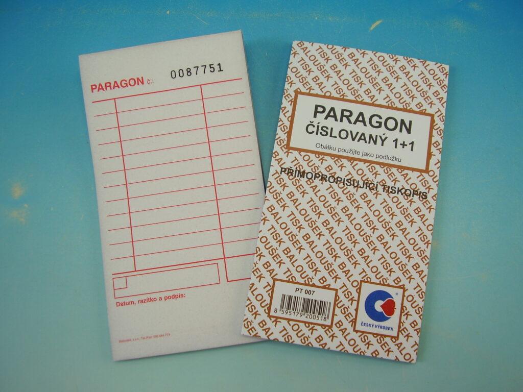 Paragon číslovaný, propis.,50l /PT007/