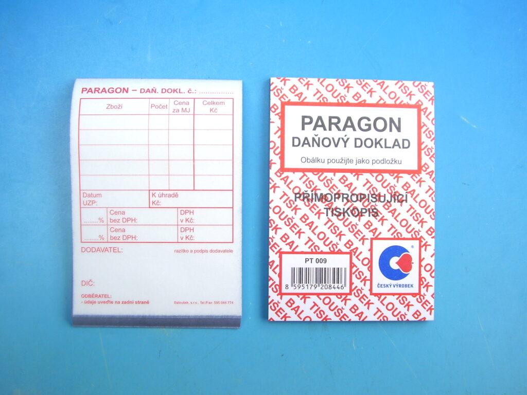 Paragon- daňový doklad A7, propis., 50l /PT009/