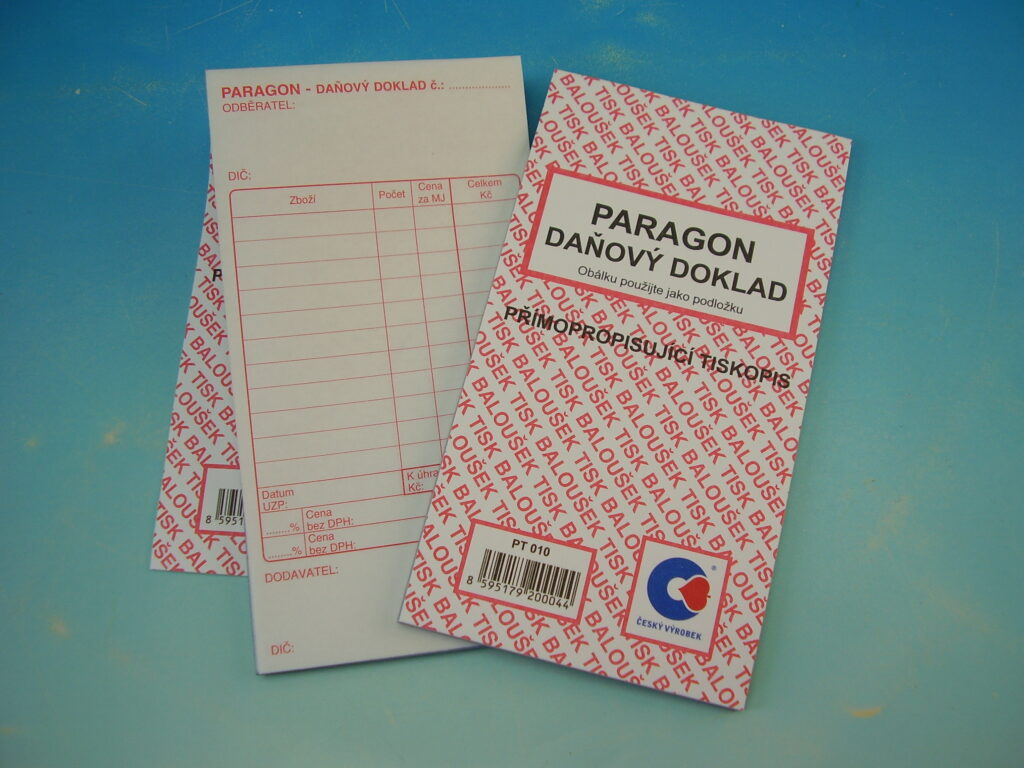 Paragon-daňový doklad, propis. /PT010/