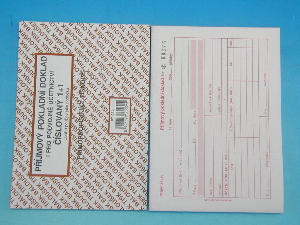 Doklad příjmový pokl. i pro PÚ A6 čísl., propis. /PT032/