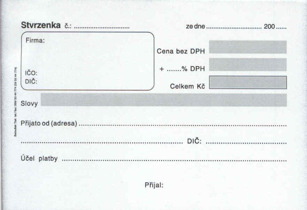 Stvrzenka A6, propis /PT070/