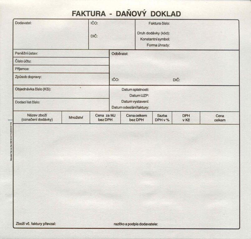 Faktura 2/3A4-daň.doklad, propis., /PT200/