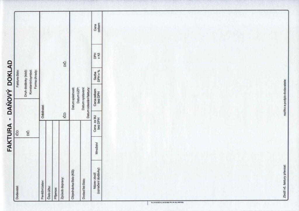 Faktura A4-daňový doklad, propis., /PT210/