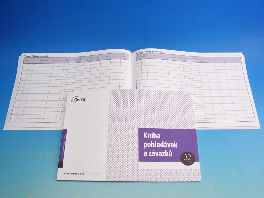Kniha pohledávek a závazků A4, 32l /OP1008/