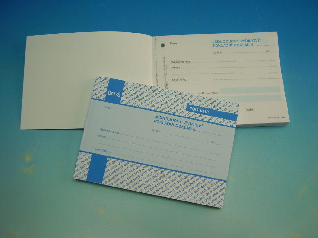 Doklad výdajový jedn.A6 100 listů /OP1036/
