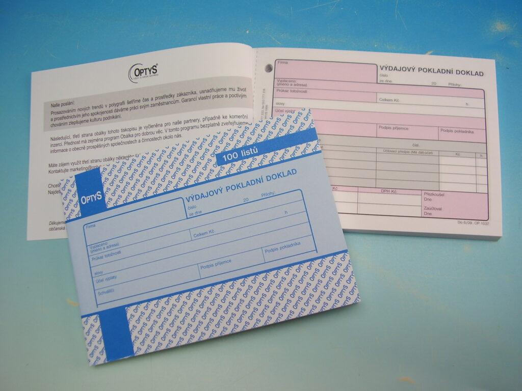 Doklad výdajový A6 100 listů /OP1037/