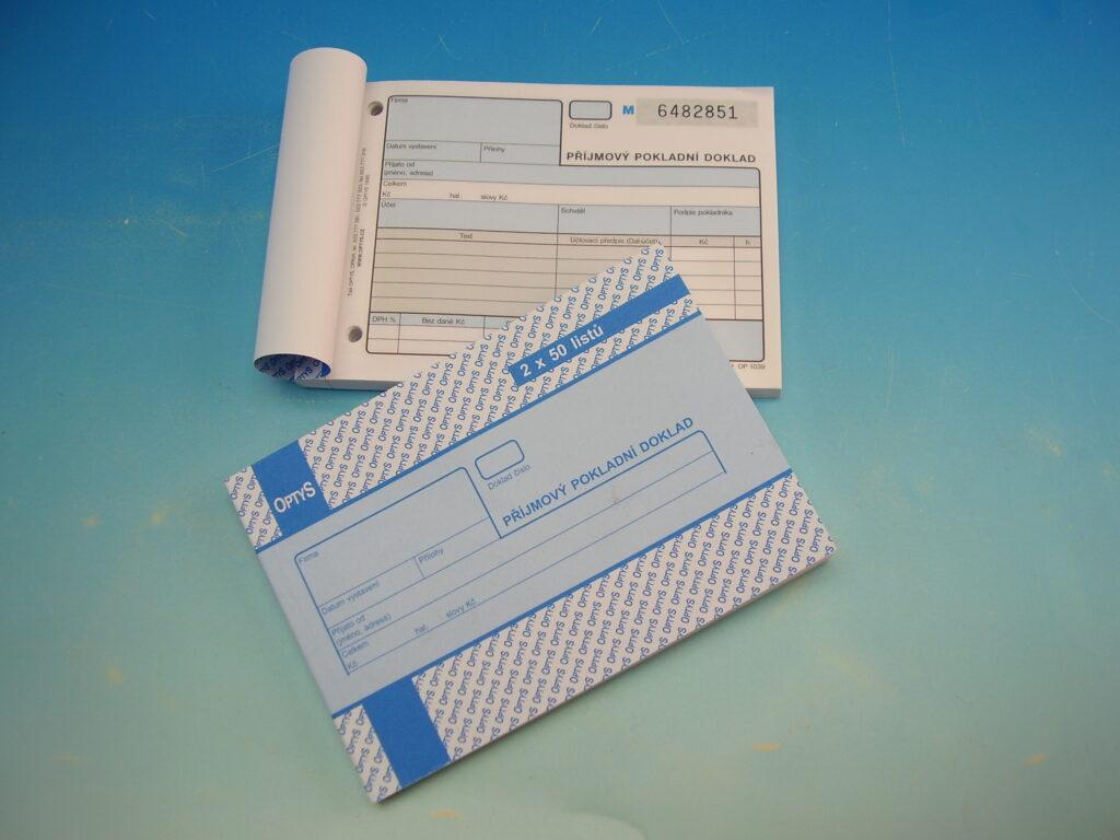 Doklad příjmový A6 2x50l. číslovaný /OP1039/