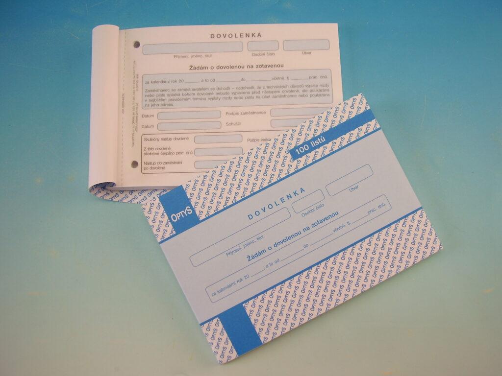 Dovolenka  A6, 100 listů /OP1146/
