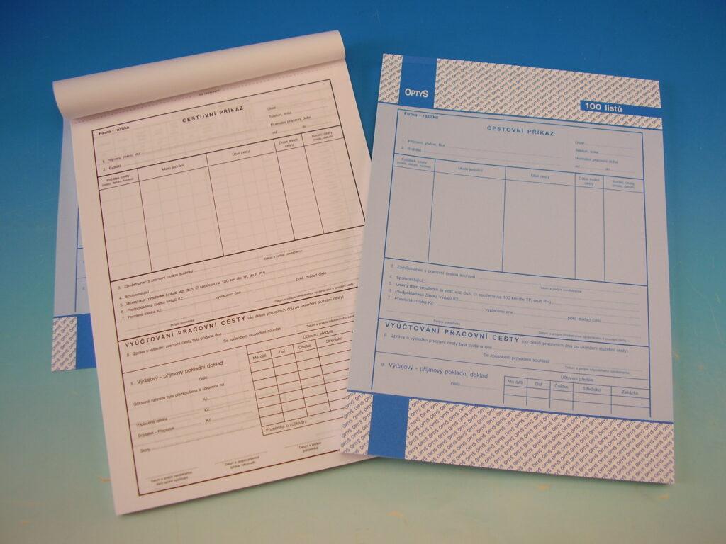 Příkaz cestovní A4  100 listů /OP1050/