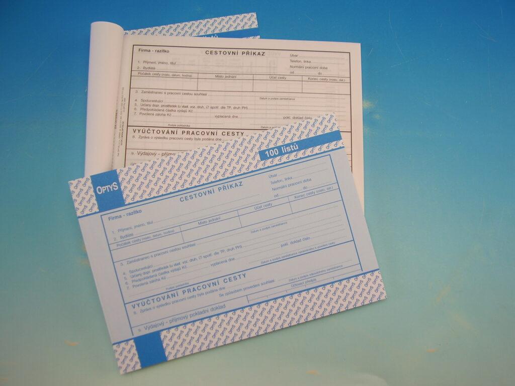 Příkaz cestovní A5 100 listů /OP1051/