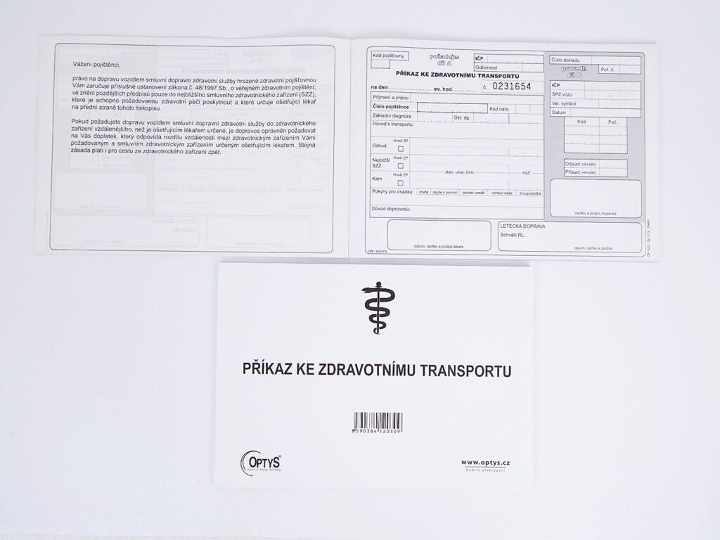 Příkaz ke zdravotnímu transportu  OP1203