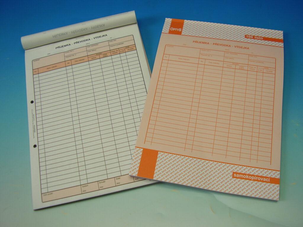 Převodka příjemka-výdejka A4 NCR 100 listů, propis. /OP1075/
