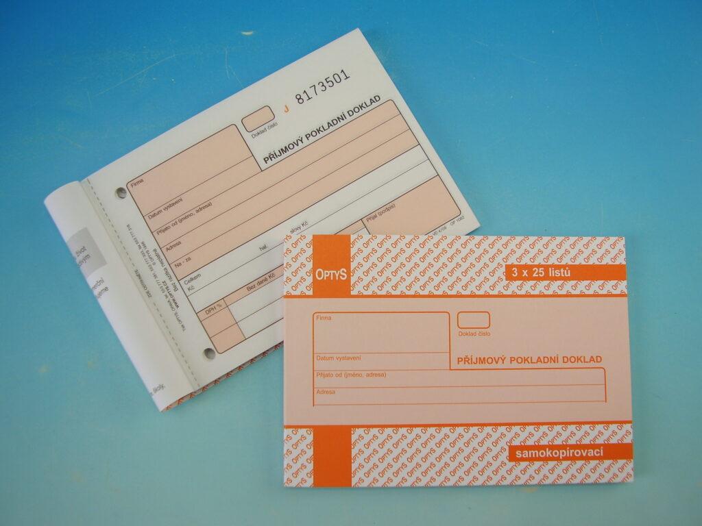 Doklad Příjmový pokladní A6 3x25 listů NCR,propis. /OP1082/