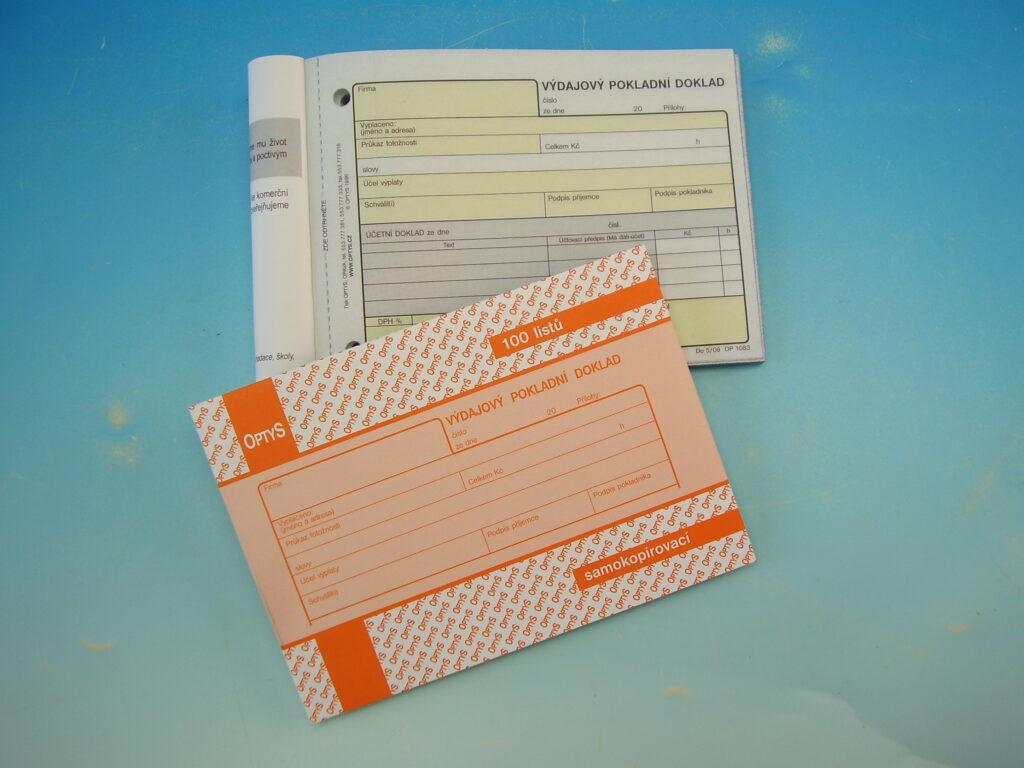 Doklad výdajový pokl. NCR A6 100 listů, propis. /OP1083/