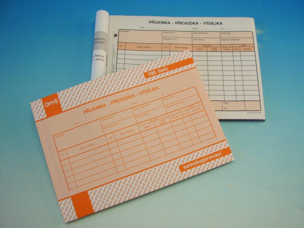 Převodka příjemka-výdejka A5 NCR, propis. /OP1087/