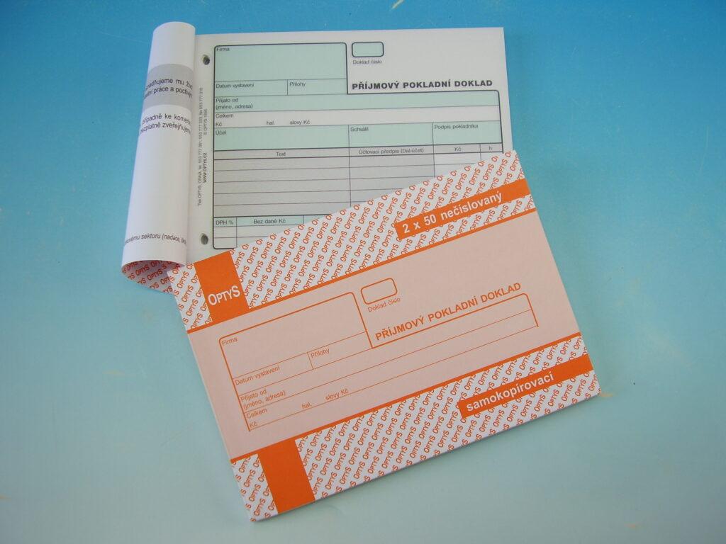 Doklad příjmový pokladní A6 NCR, propis /OP1091/