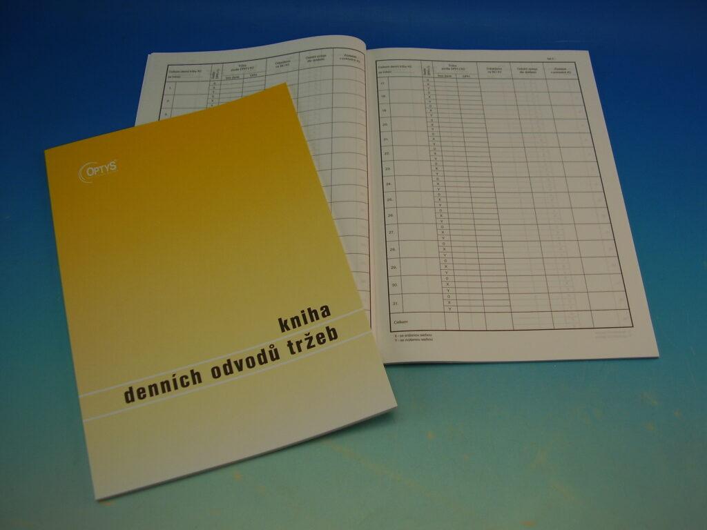 Kniha denních odvodů tržeb A4 52l /OP1095/