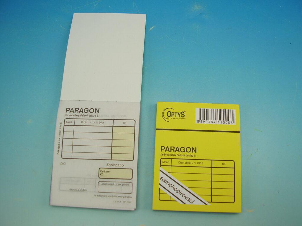 Paragon obchodní SP 100 listů 7,5x9,5cm, propis /OP1100/
