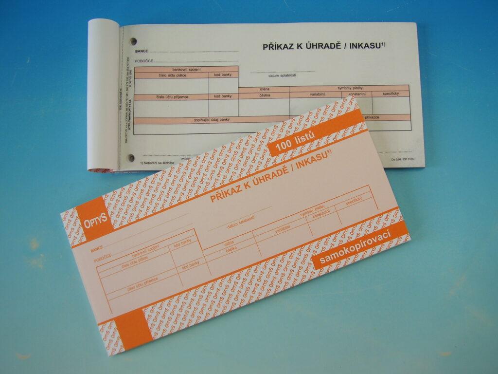 Příkaz k úhradě jednorázový NCR, propis. /OP1109/