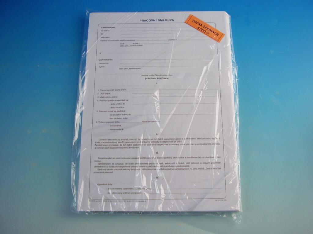 Smlouva pracovní A4 /OP1134/
