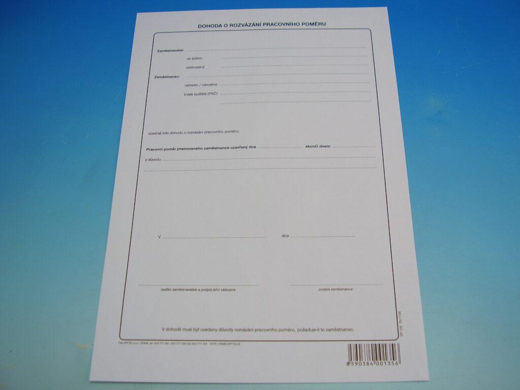 Dohoda o rozvázání prac.poměru /OP0135/