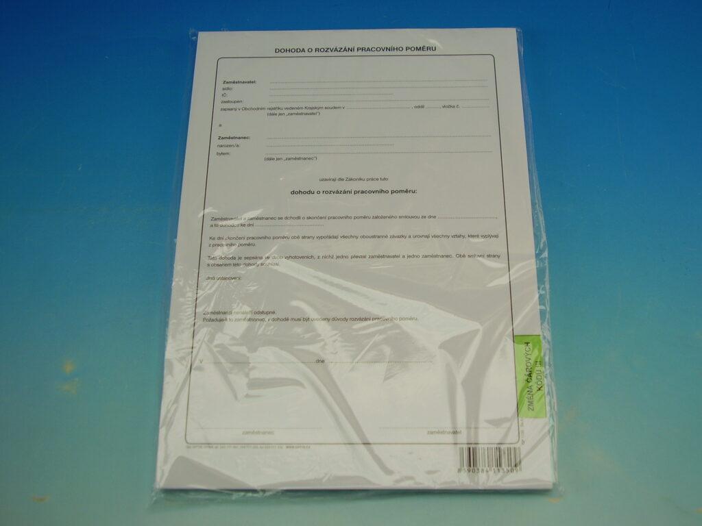 Dohoda o rozvázání prac.poměru A4 /OP1135/