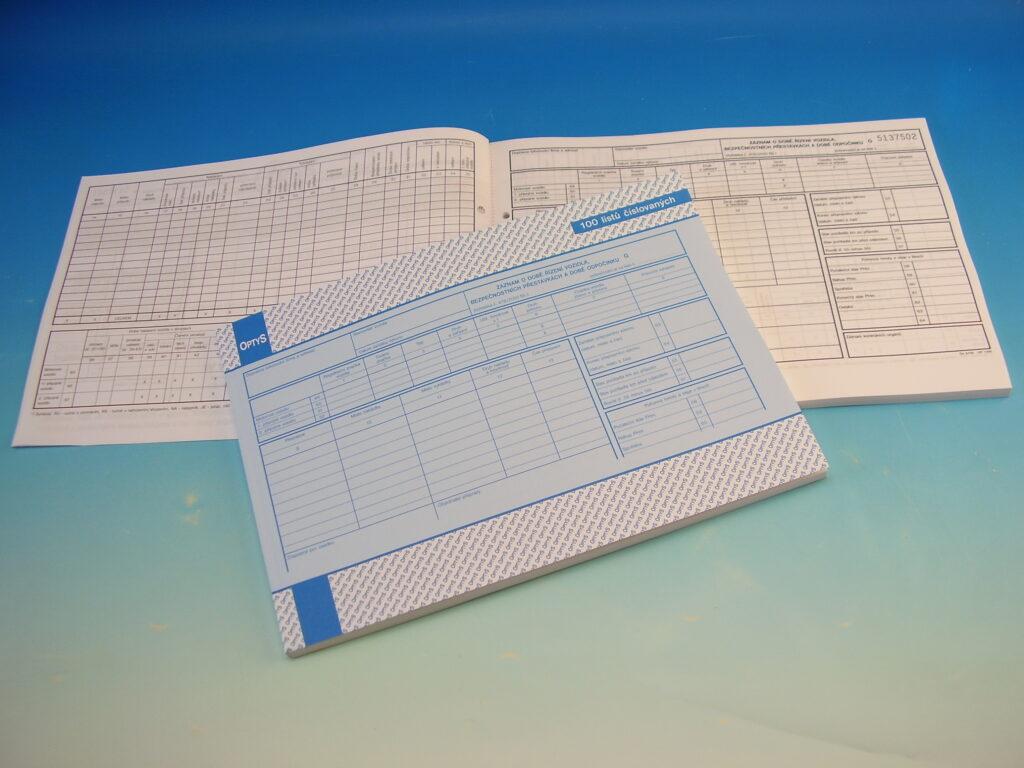 Záznam provozu vozidla, bezpeč. přestávky,  odpočinek /OP1166/