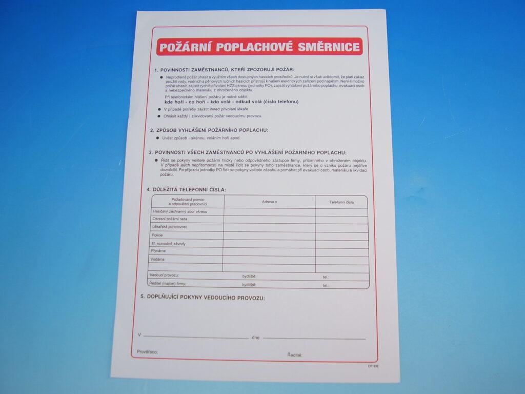 Směrnice požární poplachová /OP0232/