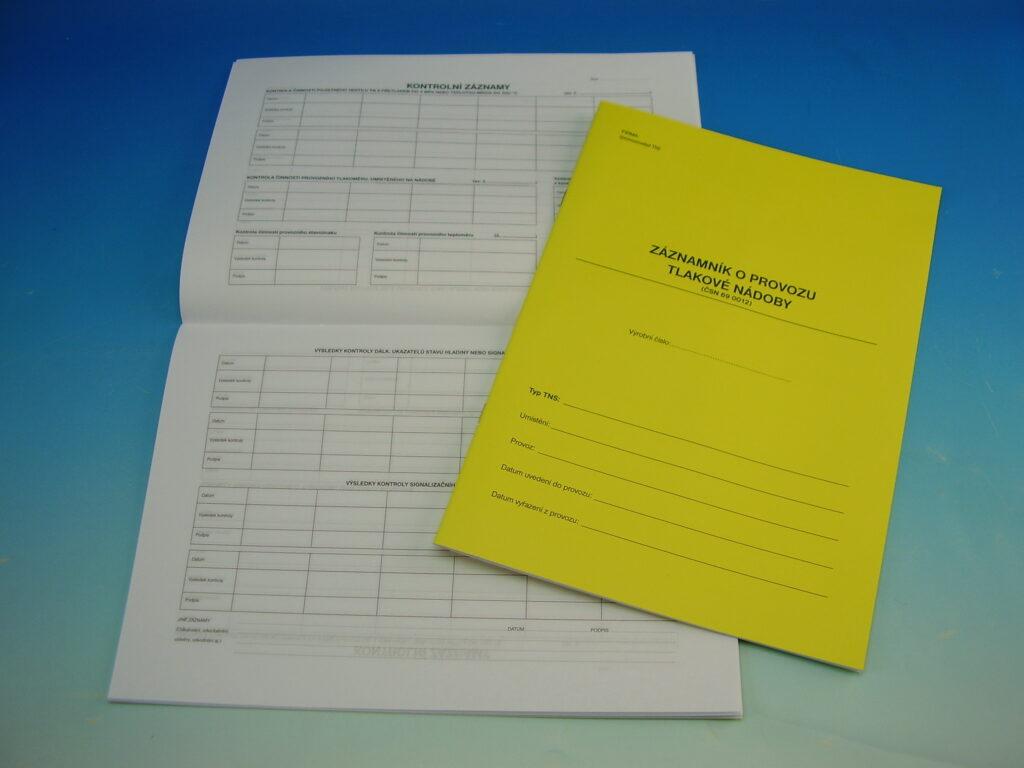 Záznam o provozu tlakové nádoby A4 /OP1236/