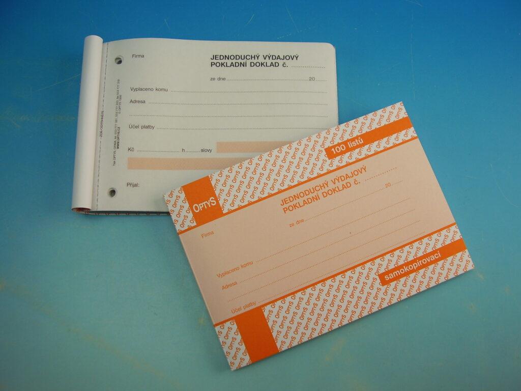 Doklad výdajový jednod. A6 100l, propis. /OP1303/