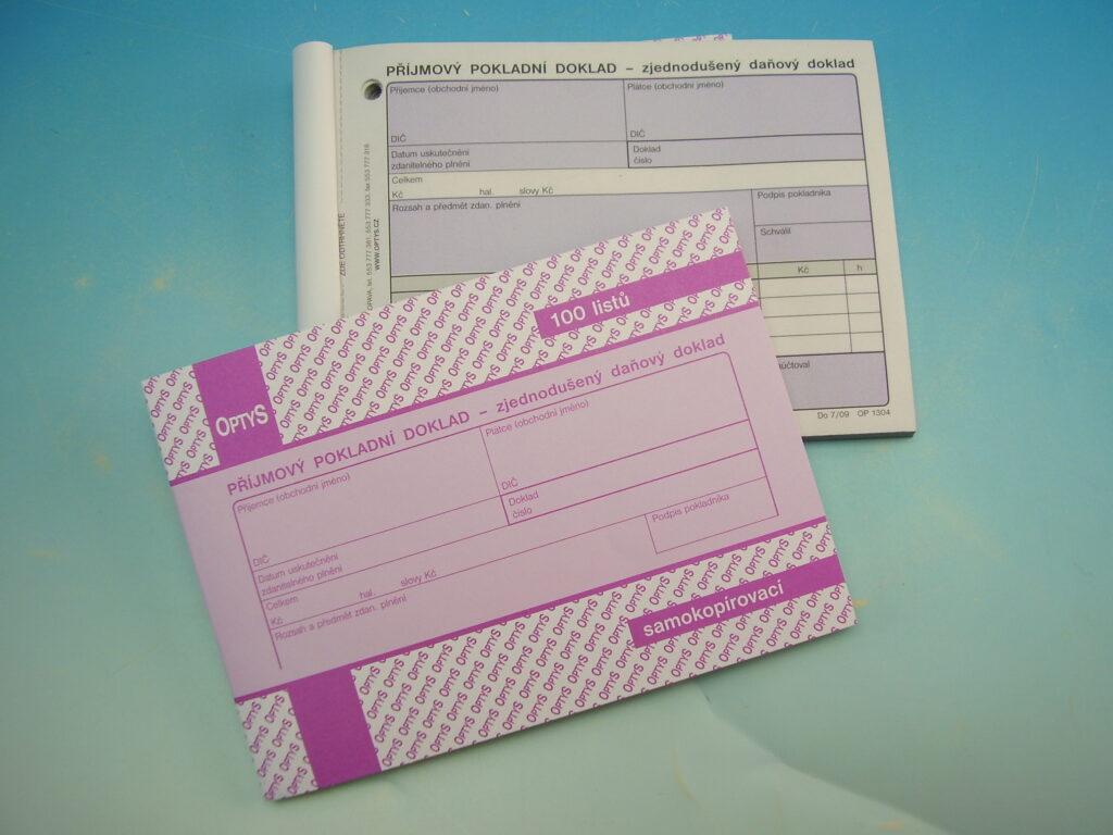 Doklad příjmový zjednoduš. A6 NCR, propois. /OP1304/
