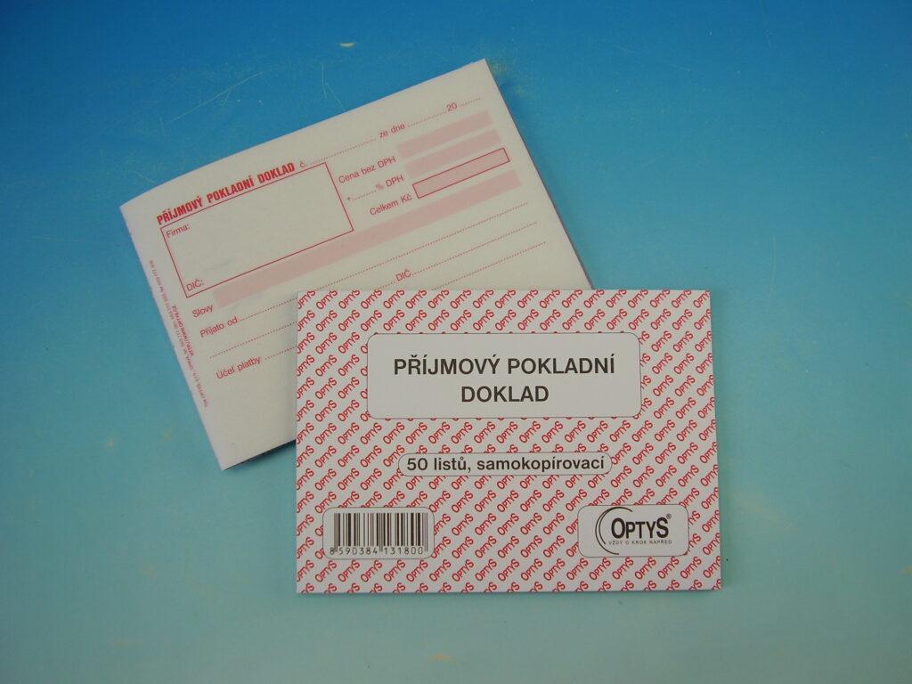 Doklad příjmový pokladní A6, 50 listů, NCR, propis /OP1318/