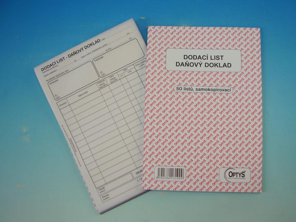 Dodací list, daňový doklad, A5, NCR, 50l /OP1319/