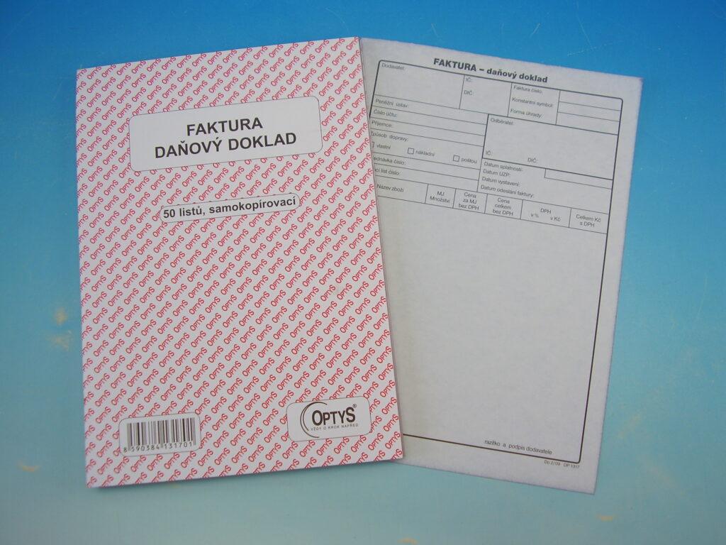 Faktura A5 50 listů NCR, propis. /OP1317/