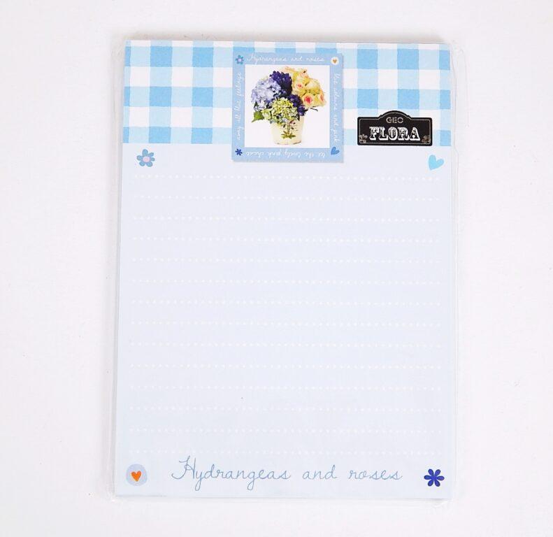 Blok A5 s magnetem, 50l Geo Flora Blue /15387101/