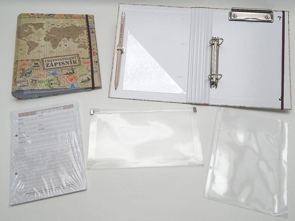 Zápisník cestovatelský BU039 8 - lamino - mapa