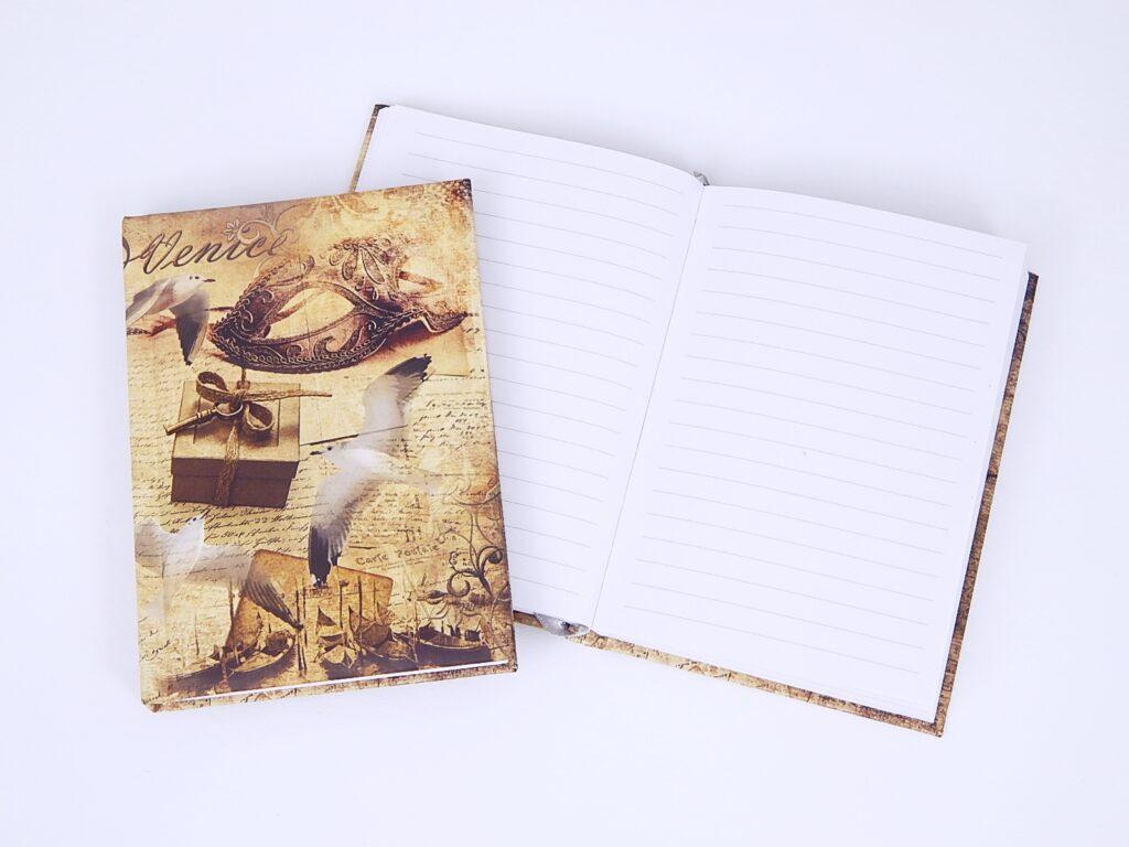 Kniha záznamní A6 linka, lamino Venice /BU068-8/