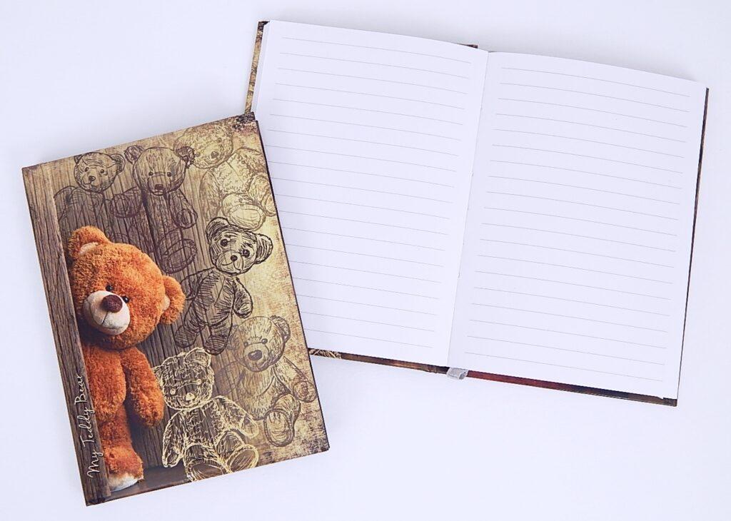 Kniha záznamní A5 linka, lamino Méďa /BU069-7/