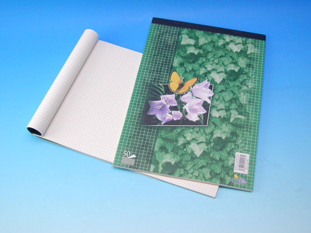 Blok poznámkový A4 čtvereček šitý 50l eko /14055/ SCP