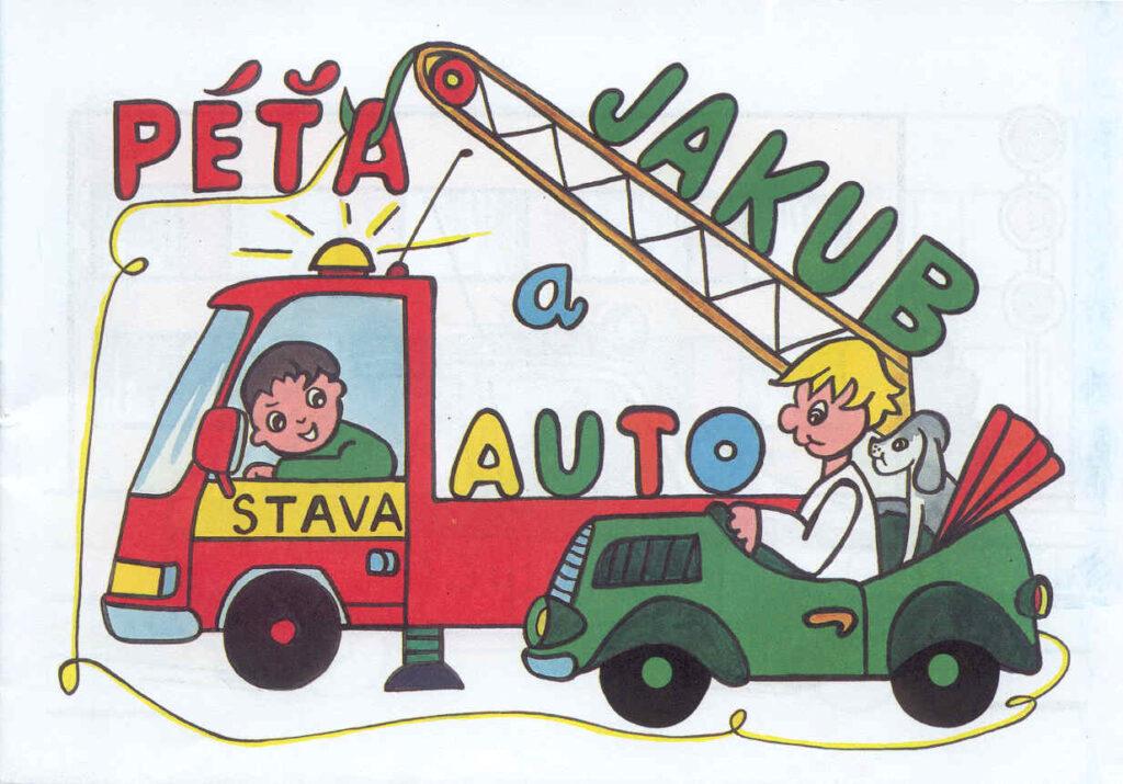 Omalovánky A5 L 81 Péťa Jakub a auto A5 /L81/